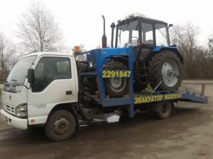 Эвакуация трактора «Беларусь»